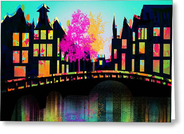New Britain Greeting Cards - Amsterdam Greeting Card by Mark Ashkenazi