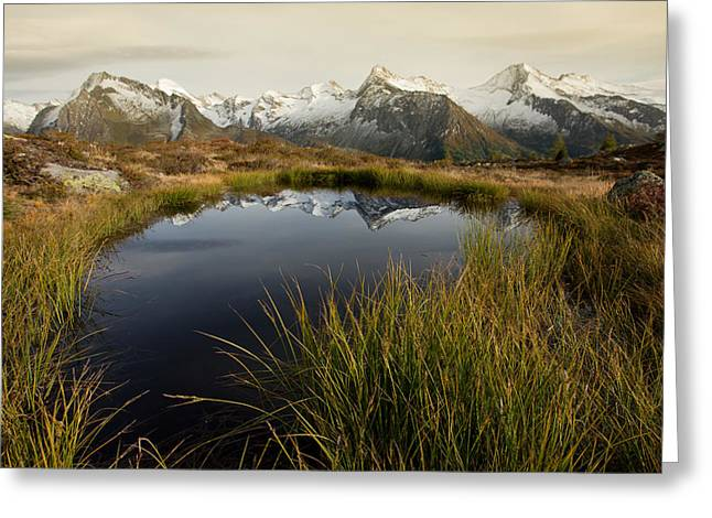 Biotope Greeting Cards - An alpine lake Greeting Card by Lorenzo Tonello
