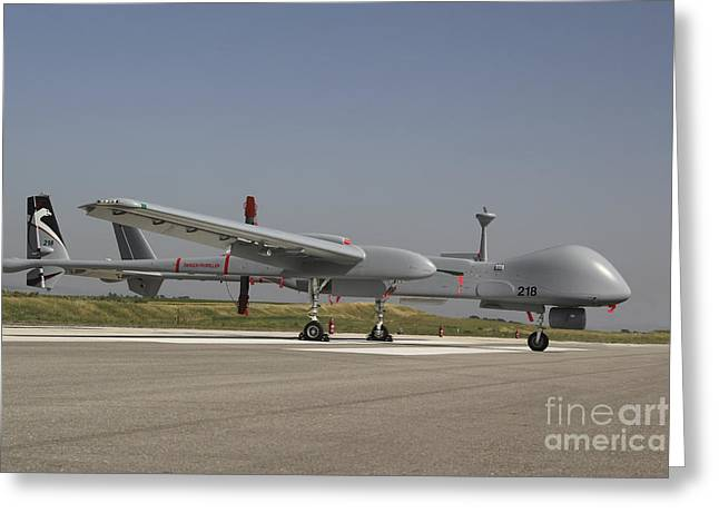 Tels Greeting Cards - An Iai Heron Unmanned Aerial Vehicle Greeting Card by Ofer Zidon
