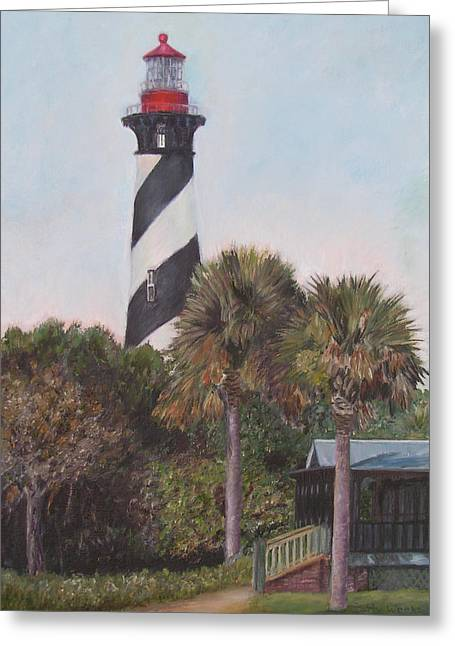 Northeast Florida Greeting Cards - Anastasia Lighthouse Greeting Card by Patty Weeks