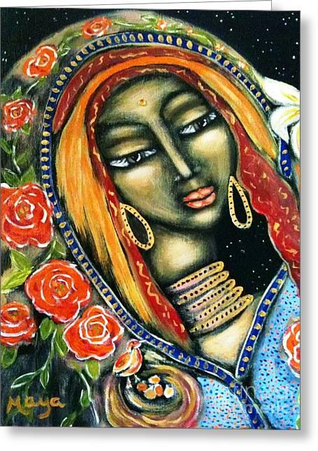 Ancient Mother Greeting Card by Maya Telford