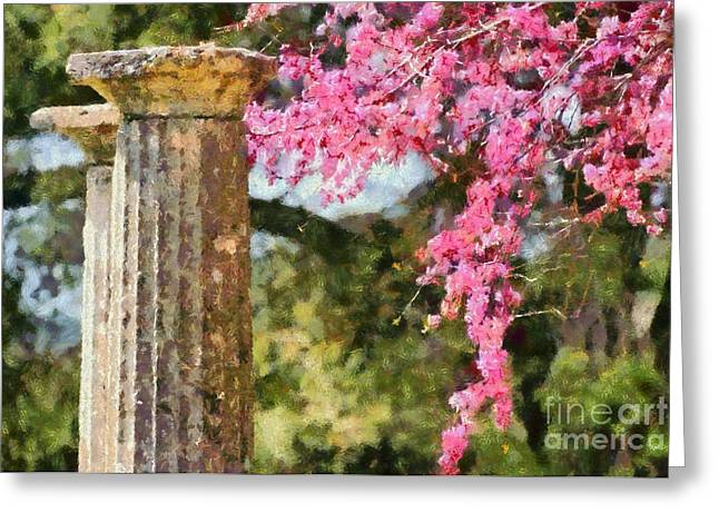 Framed Prints Greeting Cards - Ancient Olympia during springtime Greeting Card by George Atsametakis