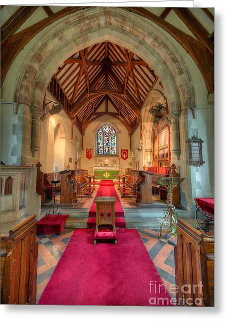 Candle Holder Greeting Cards - Ancient Parish Church Greeting Card by Adrian Evans