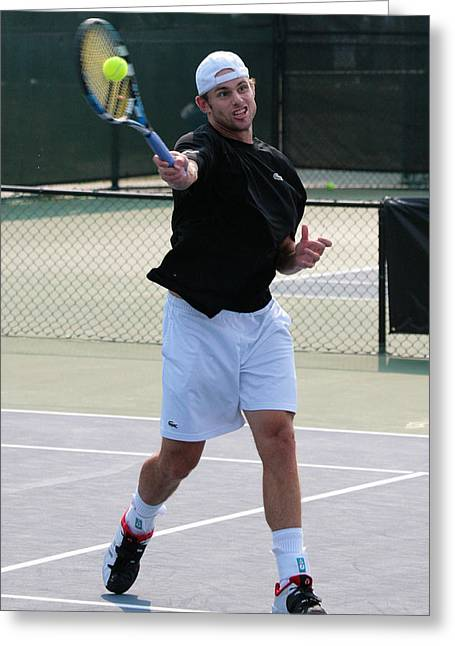 Wta Greeting Cards - Andy Roddick Greeting Card by James Marvin Phelps