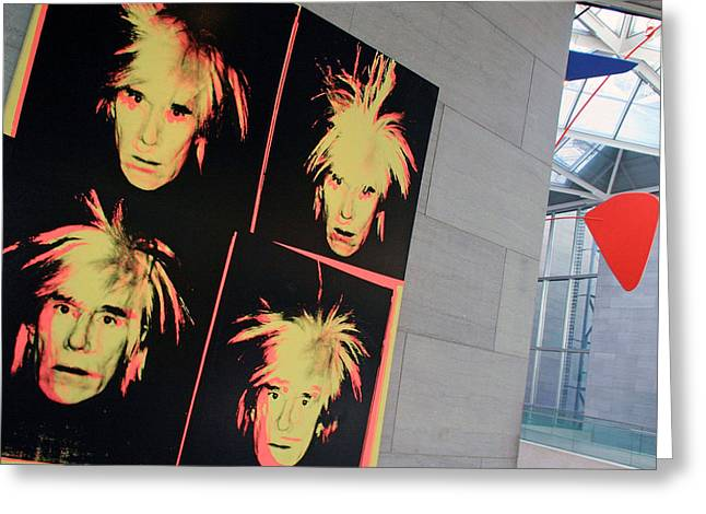 Self-portrait Photographs Greeting Cards - Andy Warhol On Andy Warhol Greeting Card by Cora Wandel