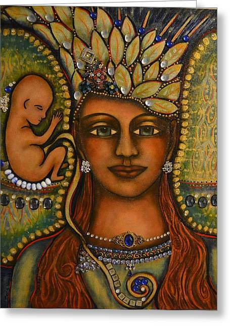 Visionary Artist Paintings Greeting Cards - Angel Baby Greeting Card by Marie Howell Gallery