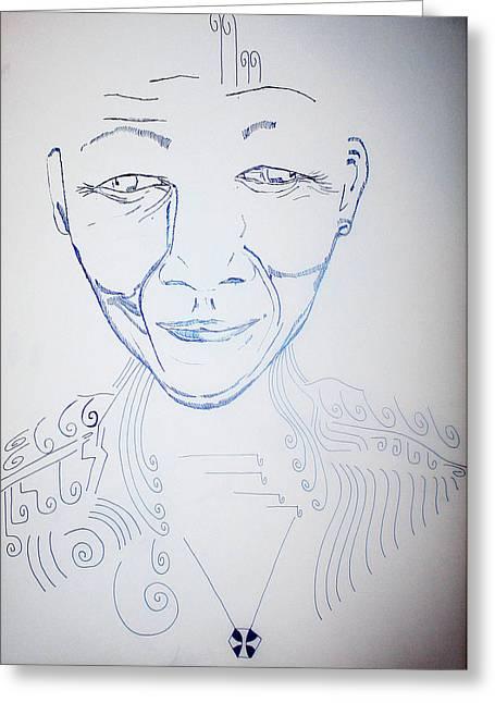 Jesus Mixed Media Greeting Cards - Angel Madiba - Nelson Mandela Greeting Card by Gloria Ssali