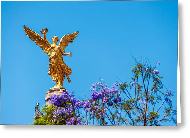 Mexico City Greeting Cards - Angel of Independence Greeting Card by Jess Kraft