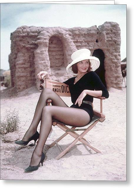 Rio Greeting Cards - Angie Dickinson in Rio Bravo  Greeting Card by Silver Screen