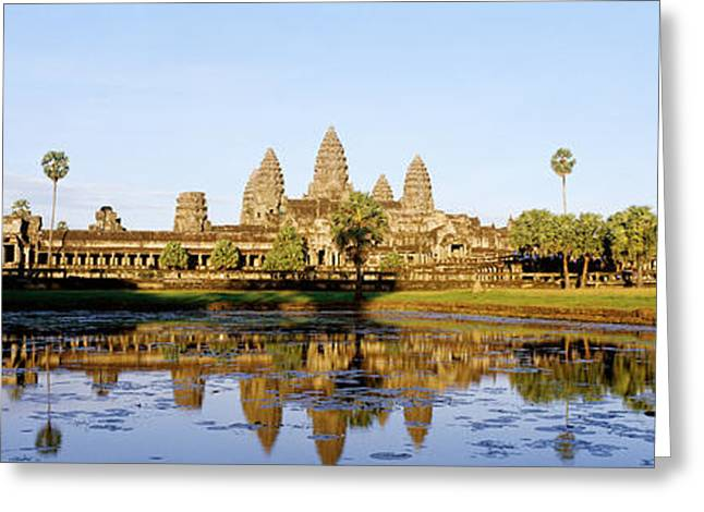Angkor Wat, Cambodia Greeting Card by Panoramic Images