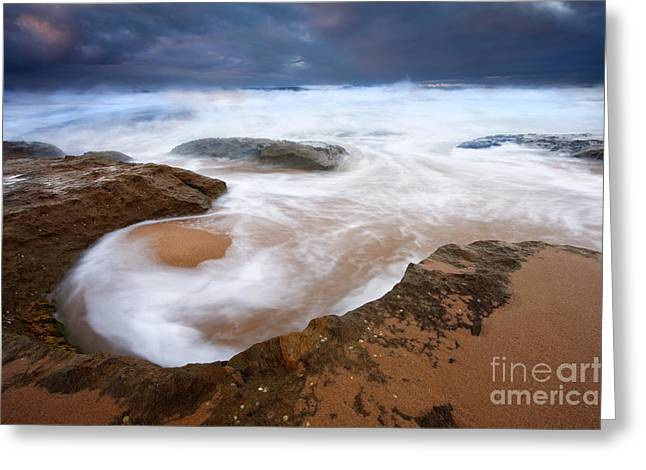 Bowls Greeting Cards - Angry Sea Greeting Card by Mike  Dawson
