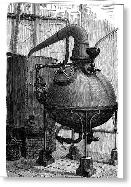 Aniline Dyeing Industry Greeting Card by Science Photo Library