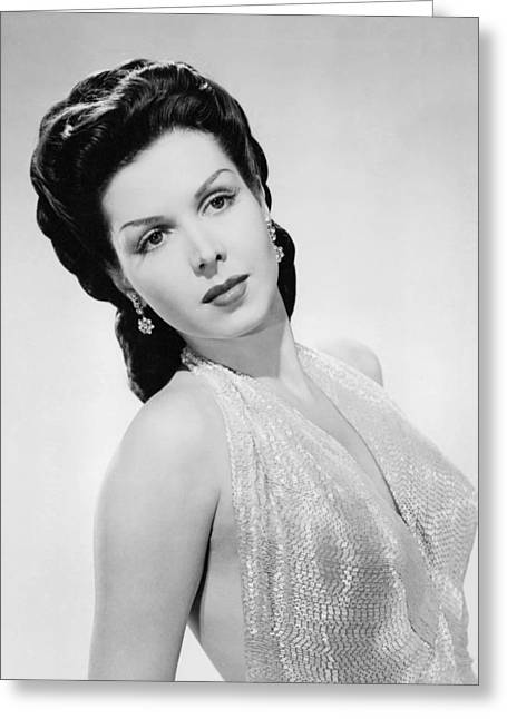 Ann Greeting Cards - Ann Miller Greeting Card by Silver Screen