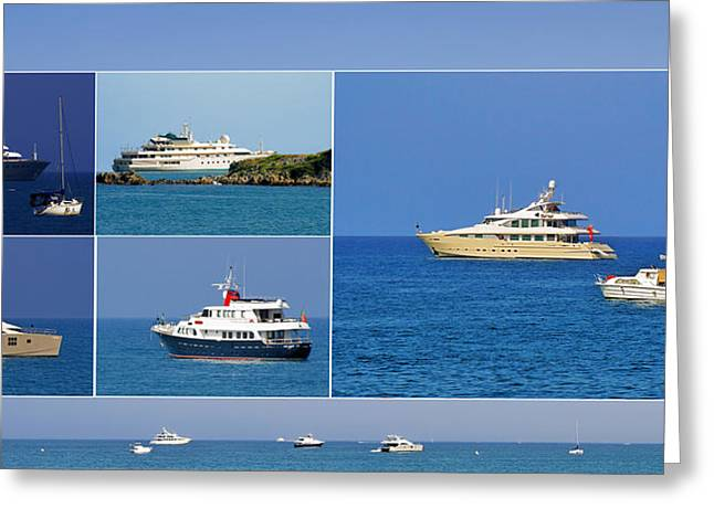 Picasso Greeting Cards - Antibes - Superyachts of Billionaires Greeting Card by Christine Till