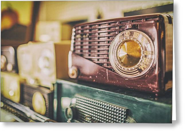 Transistor Greeting Cards - Antique Radios Greeting Card by Ryan McGuire