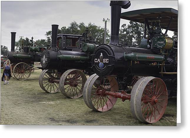 50-55 Years Greeting Cards - Antique Tractors Greeting Card by Tim Mulholland