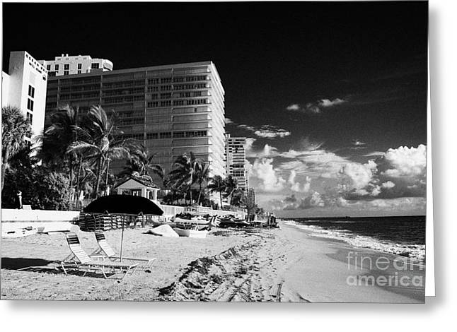 Downturn Greeting Cards - Apartments Hotels And Beachfront Developments Fort Lauderdale Beach Florida Usa Greeting Card by Joe Fox