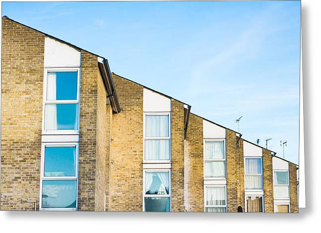 Apartments Greeting Card by Tom Gowanlock