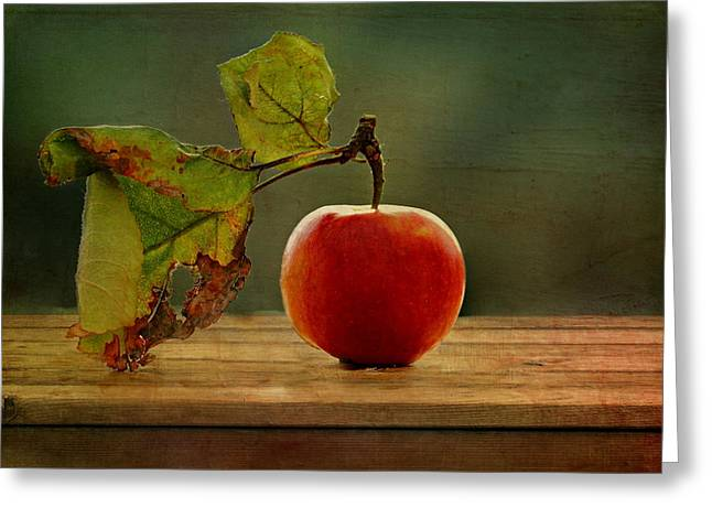 Late-summer Greeting Cards - Apple Greeting Card by Heike Hultsch