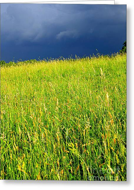 Summer Storm Photographs Greeting Cards - Approaching Storm Greeting Card by Thomas R Fletcher