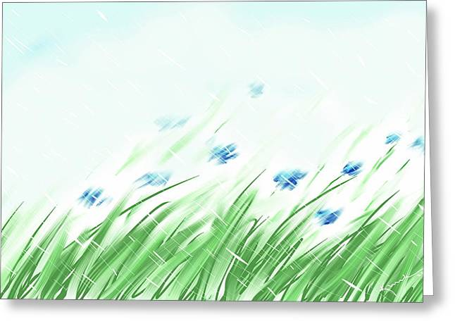 April Showers Greeting Cards - April Shower Greeting Card by Kume Bryant