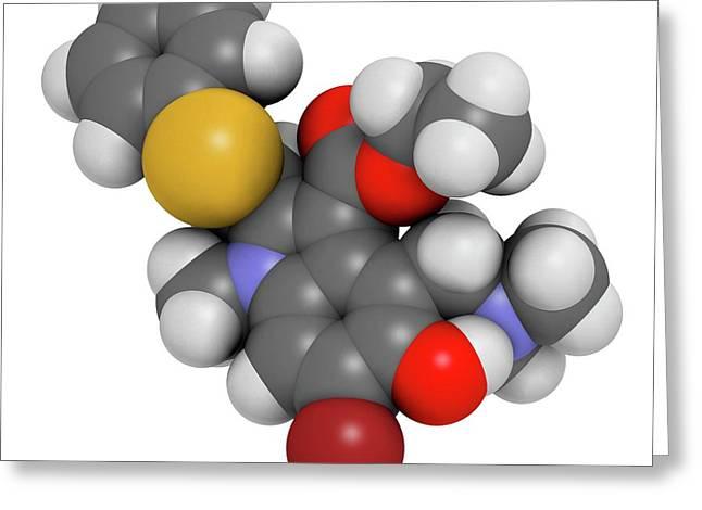 Arbidol Influenza Drug Molecule Greeting Card by Molekuul
