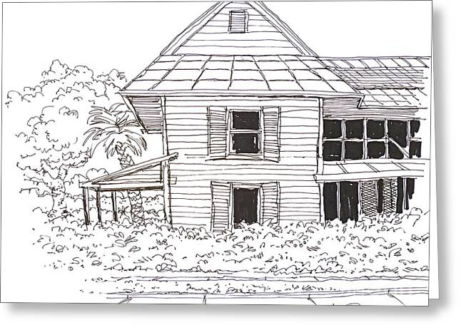 Arcadia Florida Old House Greeting Card by Robert Birkenes