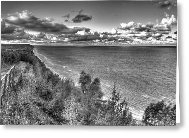 Arcadia Greeting Cards - Arcadia Overlook in Black and White Greeting Card by Twenty Two North Photography