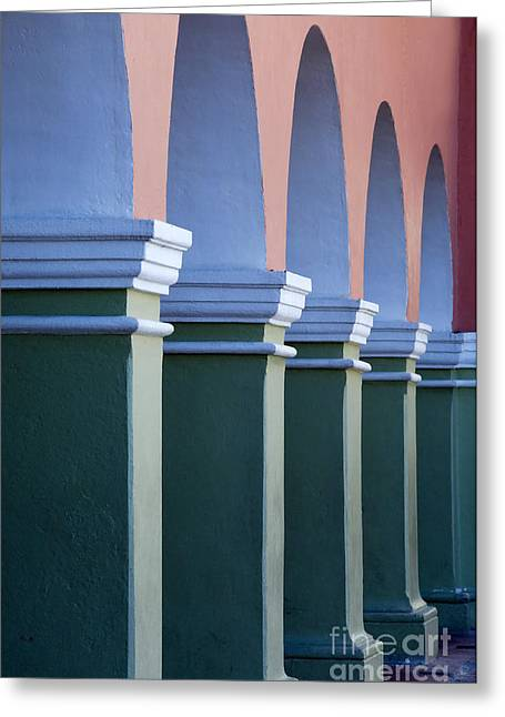 Dolores Greeting Cards - Arched Walkway Greeting Card by John Shaw