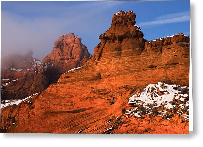 Cold Morning Sun Greeting Cards - Arches National Park Greeting Card by Utah Images