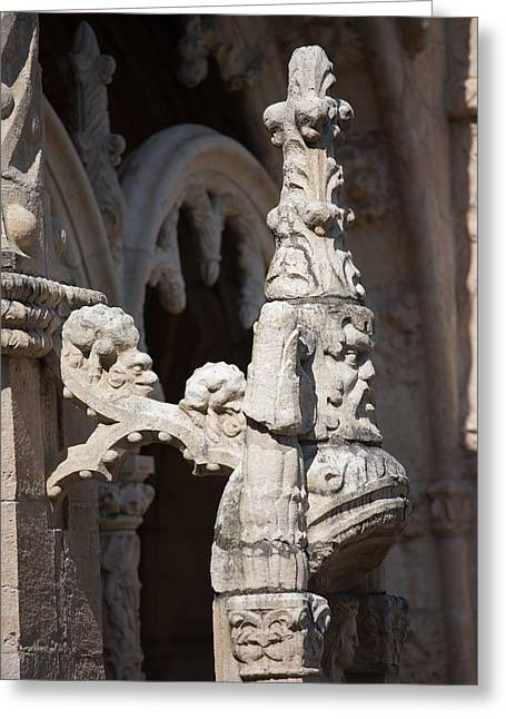 Finial Greeting Cards - Architectural Details of Jeronimos Monastery in Lisbon Greeting Card by Artur Bogacki