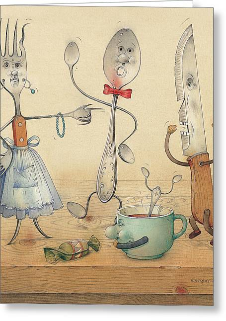 Argument Greeting Card by Kestutis Kasparavicius
