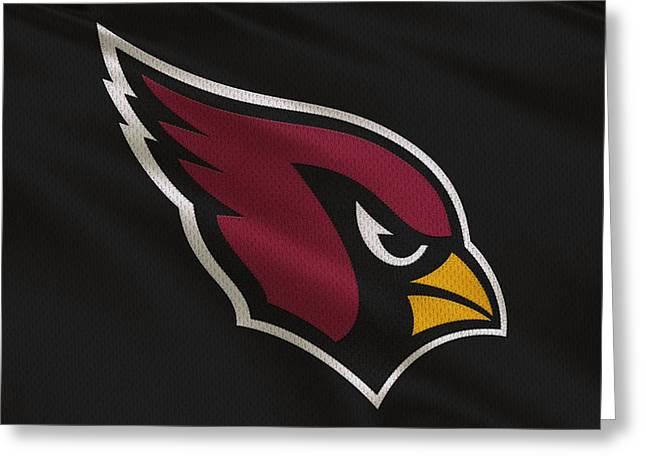 Arizona Cardinals Greeting Cards - Arizona Cardinals Uniform Greeting Card by Joe Hamilton