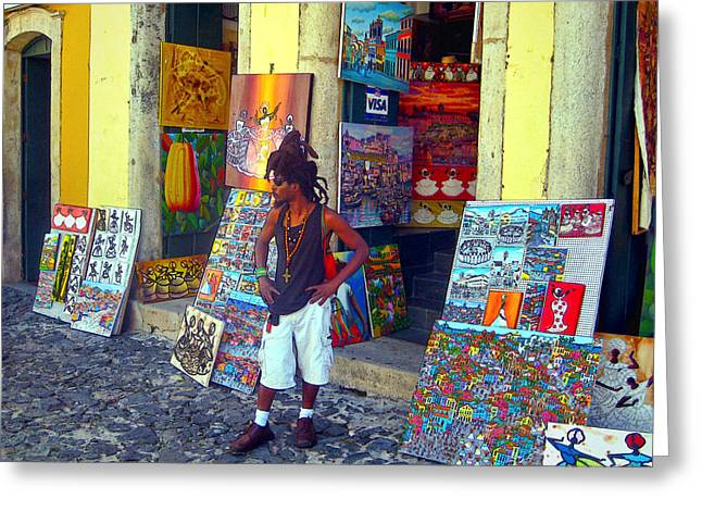 Old Town Digital Greeting Cards - Art for Sale Greeting Card by Julie Palencia
