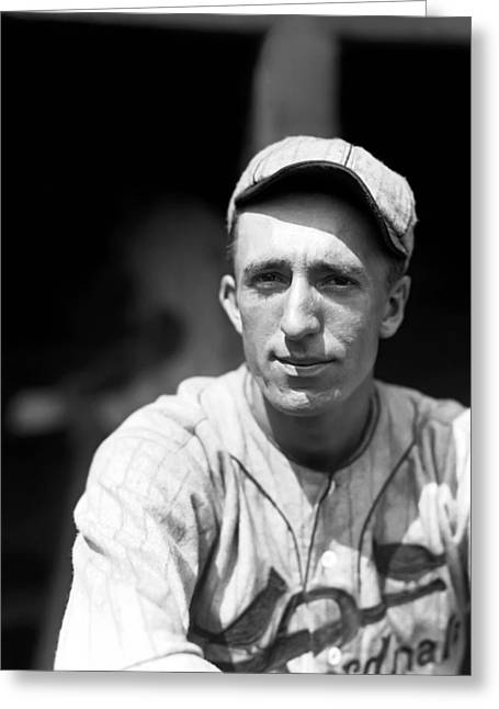 Baseball Art Photographs Greeting Cards - Art Reinhart Greeting Card by Retro Images Archive