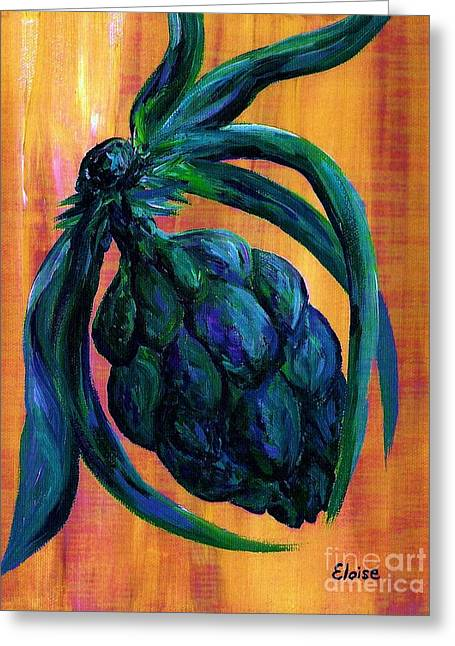 Bistro Greeting Cards - Artichoke Greeting Card by Eloise Schneider
