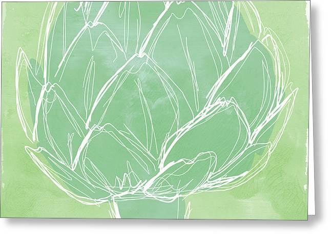 Artichoke Greeting Card by Linda Woods