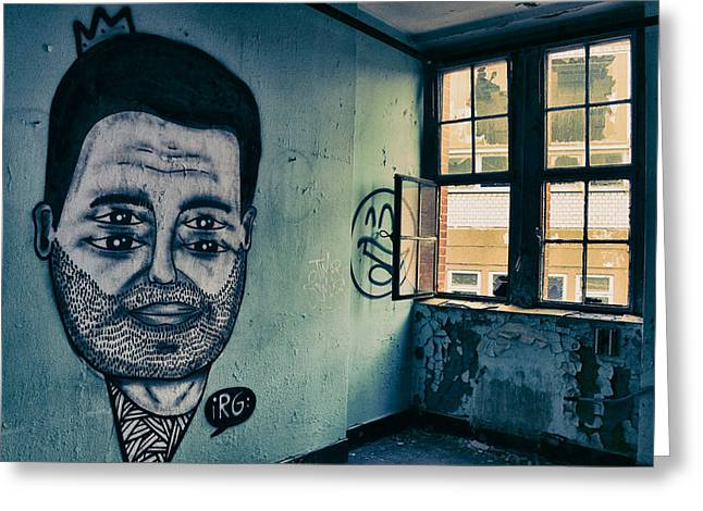 Berlin Germany Greeting Cards - Artwork and Graffiti in an Abandoned Apartment - Berlin Greeting Card by Fre Sonneveld