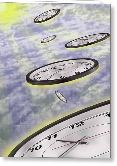 Clock Greeting Cards - As Time Goes By Greeting Card by Mike McGlothlen