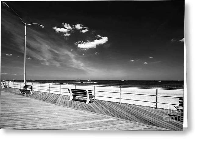 Asbury Greeting Cards - Asbury Benches Greeting Card by John Rizzuto