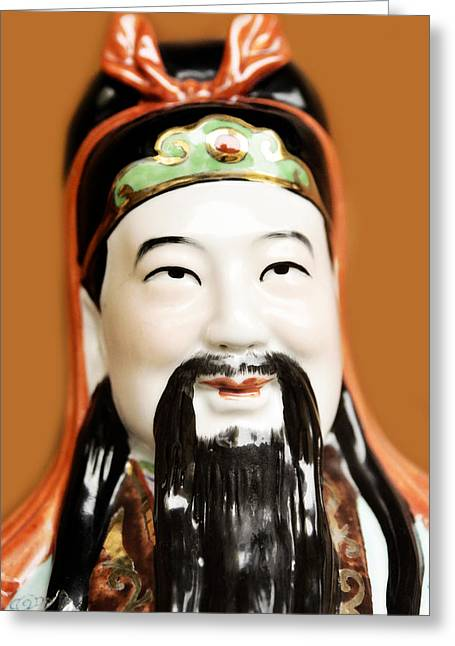 Asian Culture Greeting Cards - Asian figurine Greeting Card by Toppart Sweden