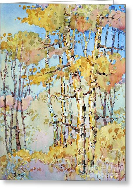 Aspen Color Greeting Card by Joyce Hicks