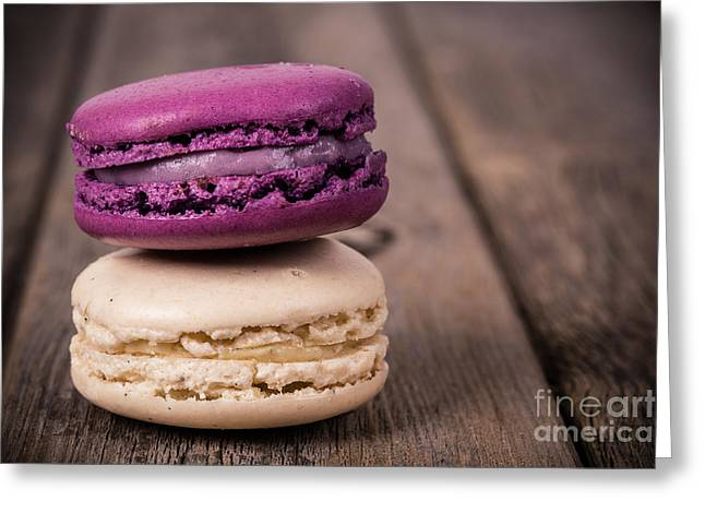 Gastronomy Greeting Cards - Assorted macaroons vintage Greeting Card by Jane Rix