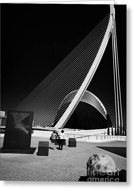 City Art Greeting Cards - Assut De Lor Bridge And Lagora At City Of Arts And Sciences Ciutat De Les Arts I Les Ciencies Vale Greeting Card by Joe Fox
