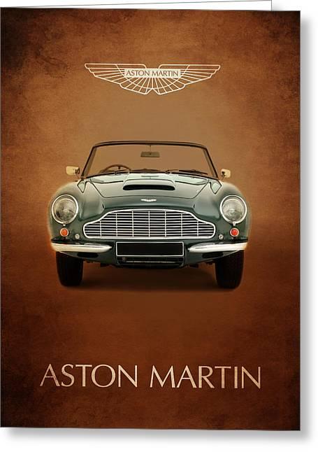 Aston Martin Greeting Cards - Aston Martin DB6 Greeting Card by Mark Rogan