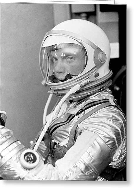 Democrat Photographs Greeting Cards - Astronaut John Glenn Greeting Card by War Is Hell Store