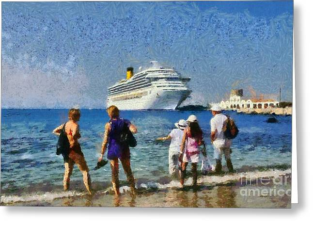 Dodekanissos Greeting Cards - At the old city of Rhodes Greeting Card by George Atsametakis