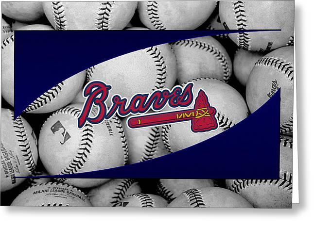 Atlanta Braves Greeting Cards - Atlanta Braves Greeting Card by Joe Hamilton
