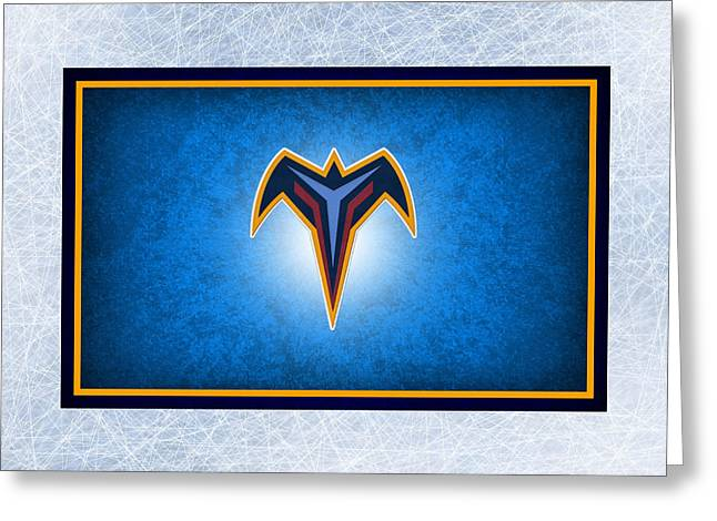 Atlanta Thrashers Greeting Card by Joe Hamilton