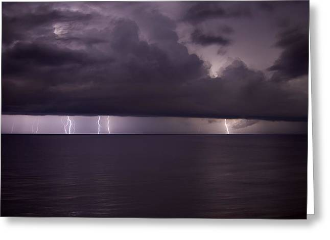Km Corcoran Greeting Cards - Atlantic Storm Greeting Card by KM Corcoran